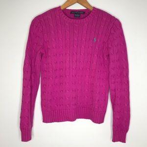 Ralph Lauren Classic Cable Knit Sweater Size S
